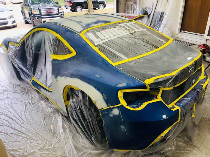 Subaru brz getting ready for primer.